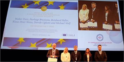Un momento della premiazione - fonte: sito ENEA