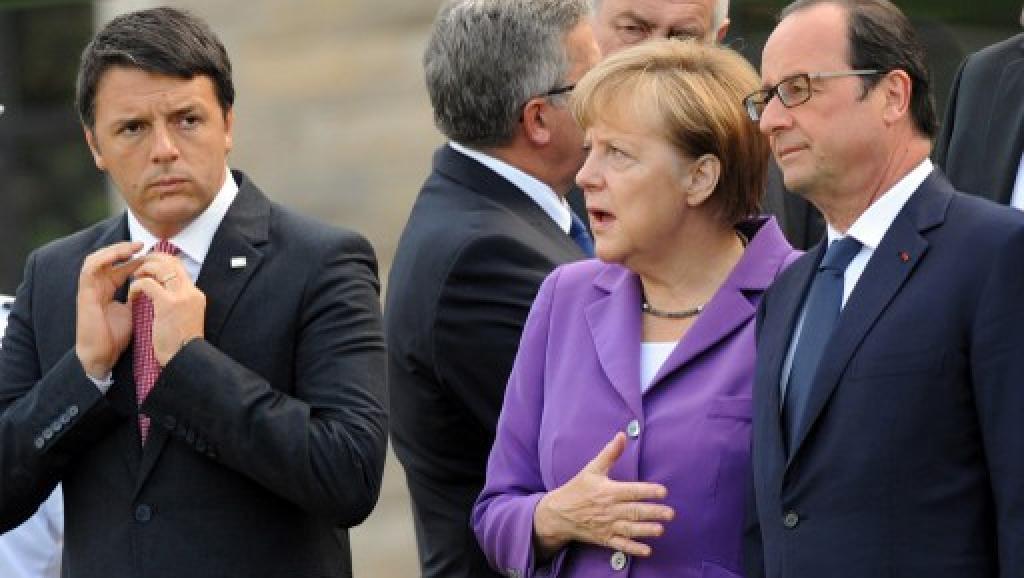 Renzi Merkel Hollande