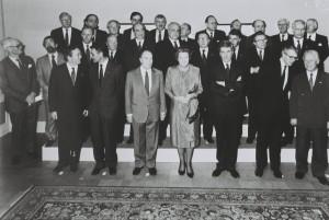 La foto di famiglia dei firmatari del Trattato di Maastricht