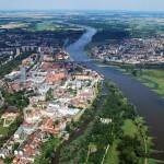 Una foto aerea della città di Francoforte