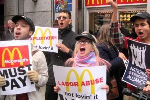 McDonalds protesta