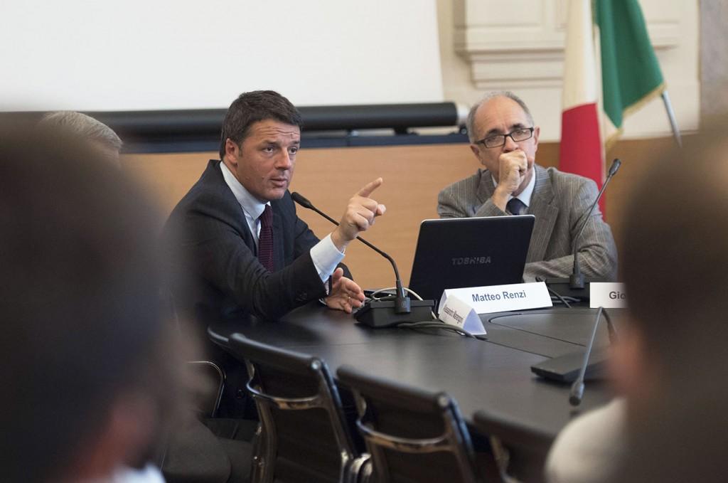 Il presidente del Consiglio, Matteo renzi, al Politecnico di Milano (Foto: Barchielli, Palazzo Chigi)