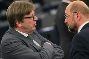 Guy Verhofstadt e Martin Schulz - © European Union 2014 - source:EP