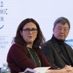 Malmstrom a Davos - foto Commissione Ue
