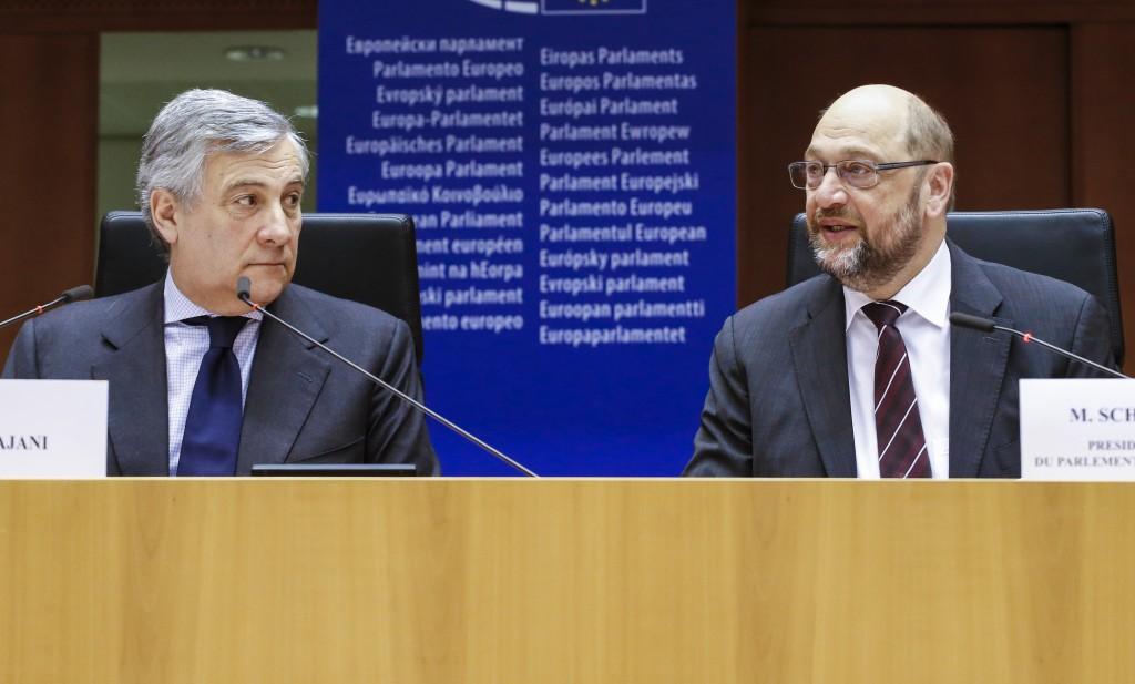 Tajani e Schulz - © European Union 2016 - Source : EP