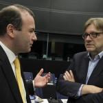 Il capogruppo popolare Weber e quello liberale Verhofstadt - © European Union 2015 - source:EP