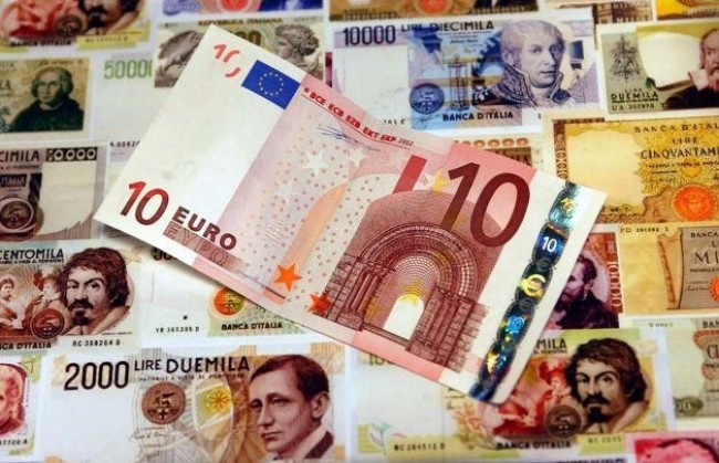 lira, euro, Prodi