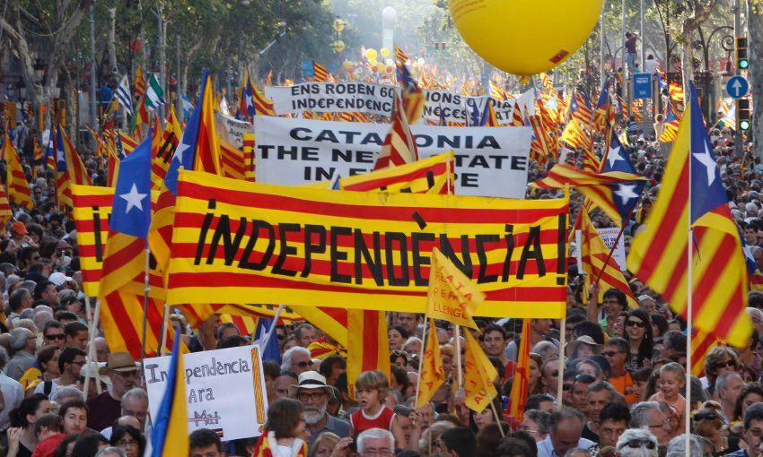 [Manifestazione per l'indipendenza della Catalogna]