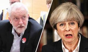 Brexit, elezioni, sondaggi, Gran Bretagna. May, Corbyn